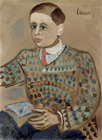 Artwork by André Lanskoy, Portrait d'un jeune homme, Made of Oil on canvas
