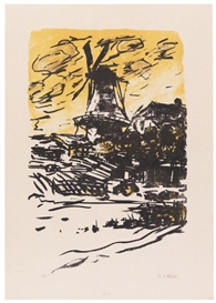 Artwork by Emil Nolde, Mühle, Made of Lithograph in colors