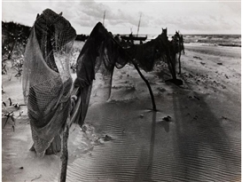 Artwork by Raoul Hausmann, DRYING NETS AT SALESKE, Made of silver gelatin print