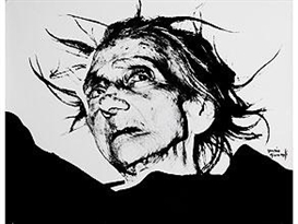 """Artwork by Mario Giacomelli, AUS DER SERIE """"VERRA LA MORTE E AVRA I TUOI OCCHI"""", Made of Gelatin silver print"""