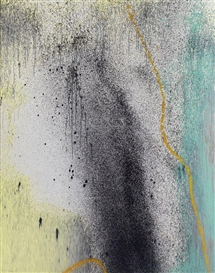 Artwork by Hans Hartung, T1989-R7, Made of Acrylic on canvas