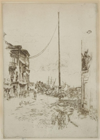 James McNeill Whistler, The Little Mast, Venice