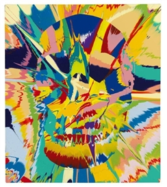 Damien Hirst, Beautiful Flora Lunacy Painting