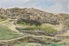 Artwork by David Bomberg, Siloam, Jerusalem, Made of Oil on canvas
