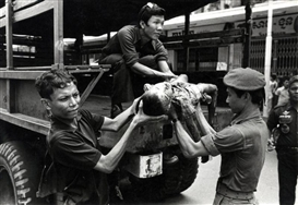 "Artwork by Philip Jones Griffiths, ""War in Cambodia"", Made of Gelatin silver print"