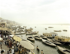"Artwork by Peter Bialobrzeski, ""Varanasi"", Made of C-Print. Kodak-Professional-Endura."