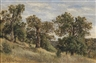 Theodor von Hörmann, Hillside with Trees