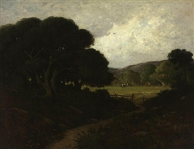 Artwork by William Keith, Oaks near San Rafael, Made of oil on canvas