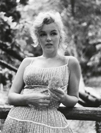 Sam Shaw, Marilyn Monroe (in polka dot dress)