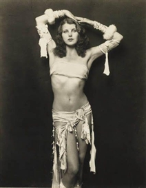 Artwork by Alfred Cheney Johnston, Grace Moore, Ziegfeld, Made of Silver print