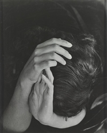 Artwork by Wols, SABINE HETTNER (HEAD IN HANDS), Made of Photograph