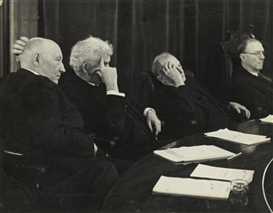Artwork by Erich Salomon, WAYS AND MEANS COMMITTEE LISTENING TO A SPEAKER (CONGRESSMEN DOUGHTON,..., Made of ferrotype