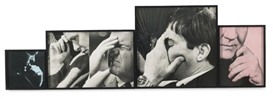 John Baldessari, FIVE MALE THOUGHTS (ONE FRONTAL)