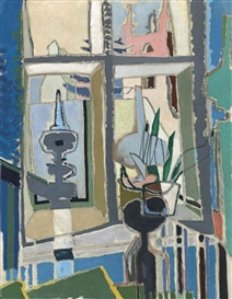 Artwork by Patrick Heron, Crambe Vicarage: York, Made of oil on canvas