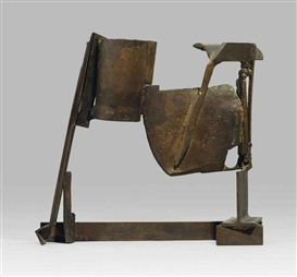 Artwork by Anthony Caro, Table Bronze Jamaica, Made of bronze cast and welded