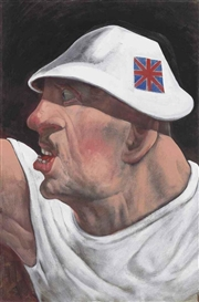 Artwork by Peter Howson, St George, Made of oil on canvas