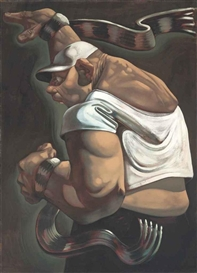 Artwork by Peter Howson, Face of Britain, Made of oil on canvas
