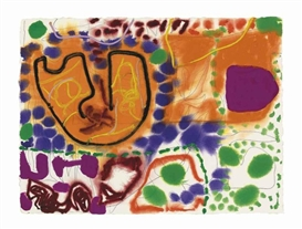 Artwork by Patrick Heron, 5 July 1995, Made of charcoal, gouache and acrylic