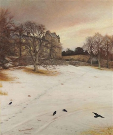 Artwork by Sir John Everett Millais, Christmas Eve, Made of Oil on canvas