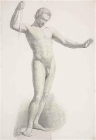 Sir John Everett Millais, Study of a Male Nude