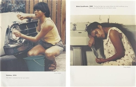 Tracey Moffatt, 2 Works: Useless, 1974; Birth Certificate, 1962 (from the Scarred for Life series), 1994