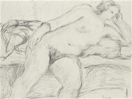 Larry Rivers, Reclining Nude Study