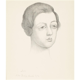 Artwork by Diego Rivera, PORTRAIT OF A WOMAN, Made of Lithograph
