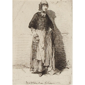 Artwork by James McNeill Whistler, LA MERE GERARD (FROM 12 ETCHINGS FROM NATURE), 1858 [KENNEDY 11], Made of Etching and drypoint on chine colle laid paper