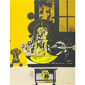 Artwork by Graham Sutherland, LA TOUR DES OSIEAUX, Made of Colour lithograph