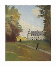 Artwork by Emile Bernard, Au Château de Tanlay, Made of oil on canvas