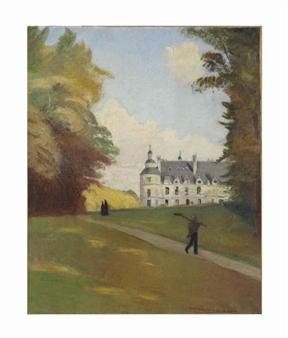Au Château de Tanlay By Emile Bernard ,1907