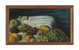 Artwork by Emile Bernard, Nature morte aux raisins, Made of oil on canvas