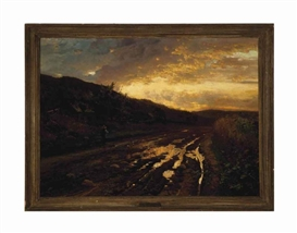 Artwork by Arthur Parton, An evening after the rain, Made of oil on canvas