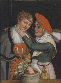 Artwork by Lucas Cranach the Elder, An unmatched couple, Made of oil on panel