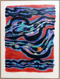 Artwork by Alfred Manessier, Abstract, Made of lithograph in colour