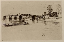Artwork by James McNeill Whistler, Fulham, Made of etching
