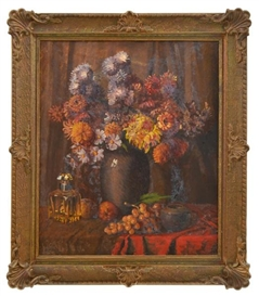 Artwork by Gustav Kluge, Still Life - Mixed Bunch, Made of oil on board
