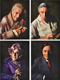 Artwork by Lewis Morley, Set of Portraits of Barry Humphries and Friends, Made of c-type photographs