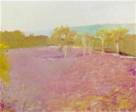 Wolf Kahn, Blueberry Field in Fall
