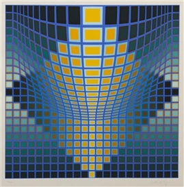 Artwork by Victor Vasarely, Untitled, Made of silkscreen