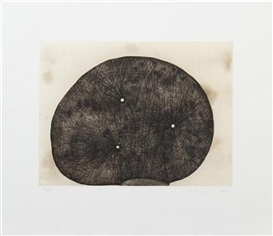 Artwork by Martin Puryear, Three Holes, Made of spitbite aquatint