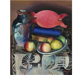 Artwork by Ilmari Aalto, Still-life with Fruit, Made of oil on canvas