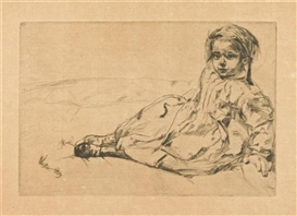 Artwork by James McNeill Whistler, Bibi Valentin, Made of etching