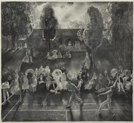 Artwork by George Bellows, The Tournament (Tennis at Newport), Made of lithograph