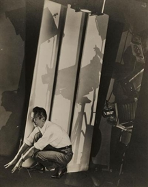 Artwork by Edward Steichen, Self-Portrait with Photographic Paraphernalia, for Vanity Fair, Made of Ferrotyped-gelatin silver print