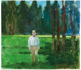 Paul Wonner, In a park (WM. Theophilus Brown)