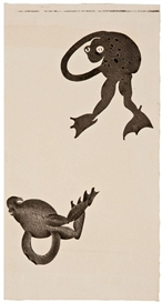 Artwork by Ken Price, 5 Works: Double Frog Cup and Four Other Works, Made of Lithograph on German etching paper