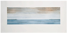 Artwork by Ed Ruscha, Two People Temporarily Separated, Made of Etching on R.K. Burt paper