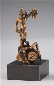 Artwork by Salvador Dalí, 2 Works: Persee; Dulcinee, Made of Bronze