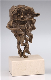 Artwork by Salvador Dalí, 2 Works: Faune; Nu Montant L'escalier, Hommage a Marcel Duchamp, Made of Bronze